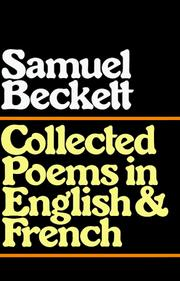 Cover of: Collected poems in English and French