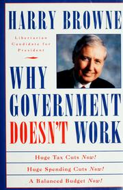 Cover of: Why government doesn't work