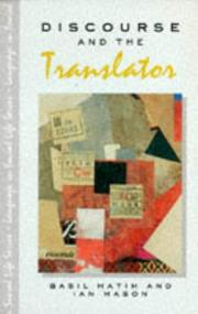 Cover of: Discourse and the Translator (Language in Social Life Series)