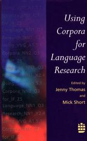 Cover of: Using Corpora Language Research