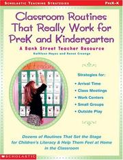 Cover of: Classroom Routines That Really Work for Prek and Kindergarten
