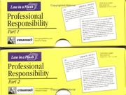 Cover of: Professional Responsibility (Law in a Flash Cards)