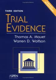 Cover of: Trial Evidence (Coursebook)