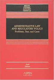 Cover of: Administrative Law