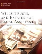 Cover of: Wills, Trusts, And Estates for Legal Assistants