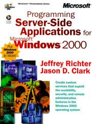 Cover of: Programming Server-Side Applications for Microsoft Windows 2000
