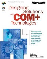 Cover of: Designing Solutions With Com + Technologies