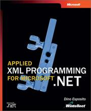 Cover of: Applied XML Programming for Microsoft .NET