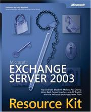 Cover of: Microsoft Exchange Server 2003 Resource Kit