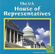 Cover of: The U.s. House of Representatives (First Facts: Our Government)