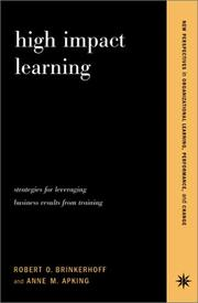 Cover of: High Impact Learning