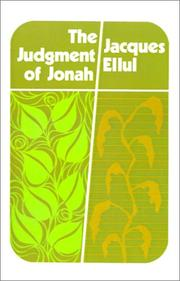 Cover of: The Judgement of Jonah