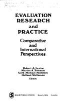 Cover of: Evaluation Research and Practice
