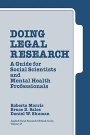 Cover of: Doing Legal Research