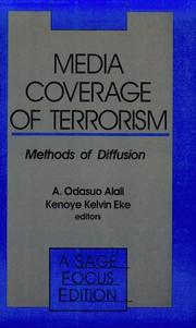 Cover of: Media Coverage of Terrorism
