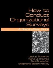 Cover of: How To Conduct Organizational Surveys: A Step-By-Step Guide