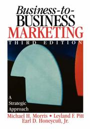 Cover of: Business-to-Business Marketing