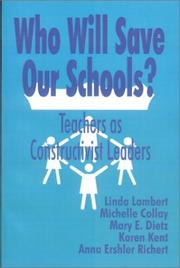 Cover of: Who Will Save Our Schools?