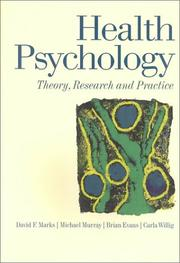 Cover of: Health Psychology