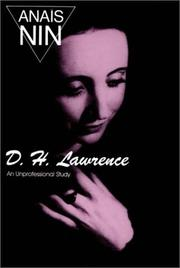 Cover of: D.H. Lawrence