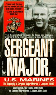 Cover of: Sergeant Major, U.S. Marines