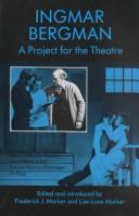 Cover of: A Project for the Theatre