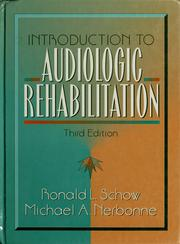 Cover of: Introduction to audiologic rehabilitation
