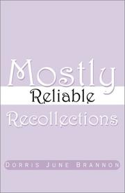 Cover of: Mostly Reliable Recollections