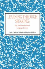 Cover of: Learning Through Speaking