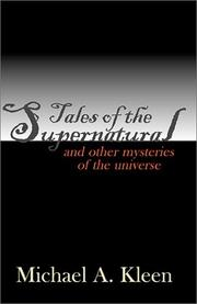 Cover of: Tales of the Supernatural
