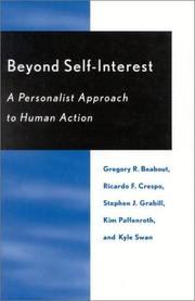 Cover of: Beyond Self-Interest