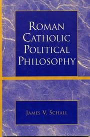 Cover of: Roman Catholic Political Philosophy