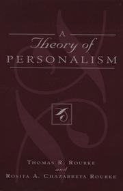 Cover of: A Theory of Personalism