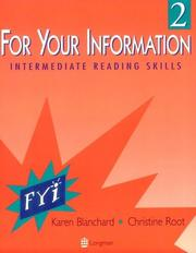 Cover of: For your information 2: intermediate reading skills