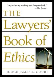 Cover of: The Lawyers' Book Of Ethics (Blank)