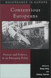 Cover of: Contentious Europeans