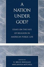 Cover of: A Nation under God?