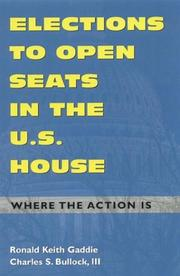 Cover of: Elections to Open Seats in the U.S. House