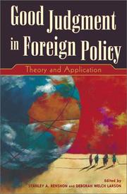 Cover of: Good Judgment in Foreign Policy