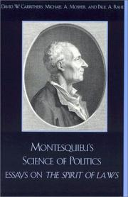 Cover of: Montesquieu's Science of Politics