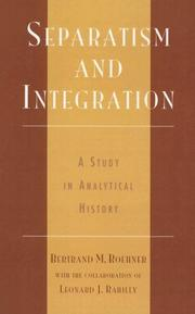 Cover of: Separatism and Integration