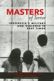 Cover of: Masters of Terror