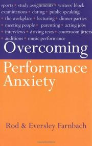 Cover of: Overcoming Performance Anxiety