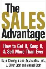 Cover of: The Sales Advantage
