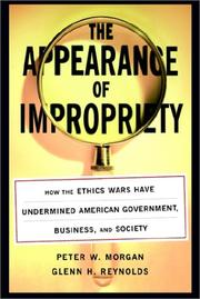 Cover of: The Appearance of Impropriety