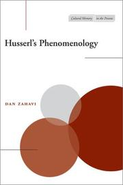 Cover of: Husserl's Phenomenology (Cultural Memory in the Present)