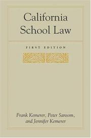 Cover of: California School Law (Stanford Law & Politics)