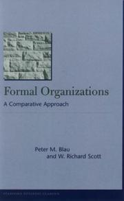 Cover of: Formal Organizations