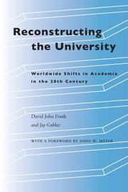 Cover of: Reconstructing the University