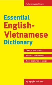 Cover of: Essential English-Vietnamese Dictionary